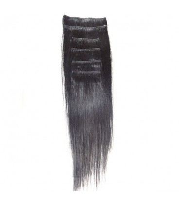 """Hairworx Clip on Extensions Black 6pc - 20"""""""