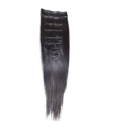 """Hairworx Clip on Extensions Black 8pc - 14"""""""