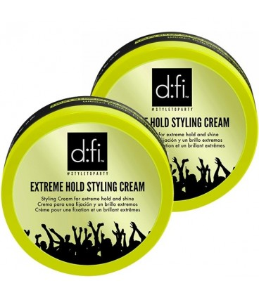 d:fi Extreme Hold Styling Cream - 75g TWO PACK