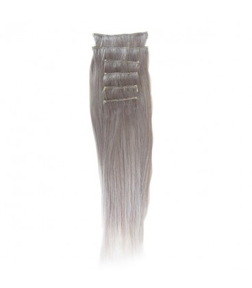 """Hairworx Clip on Extensions Silver Grey 6pc - 20"""""""